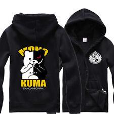 Anime Danganronpa MonoKuma Bear Hoodie Zipper SweatShirt Cosplay Cos Coat Jacket