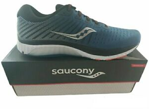 Saucony Men's Guide 13 Running Shoe Sneakers, Blue/Silver Size 11 US