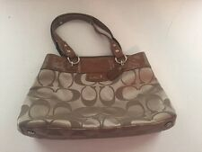 Coach Penelope Signature Sateen Shopper Bag - F16190 Beige - Preowned