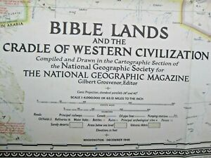 National Geographic Map of Bible Lands Map...ref  N