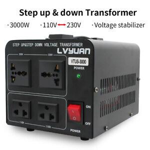 Lvyuan 3000W 110V to 220V 220v-110v Step Up/Down Voltage Converter Transformer