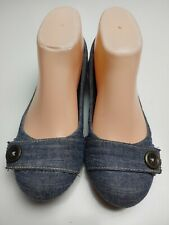 "Dr. Scholl's ""Fermo"" Women's Denim Blue Slip On Flats Size 6.5"