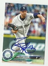 Seattle Mariners JAMES PAXTON  Signed 2018 Topps Series 1 Card #143