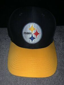Pittsburgh Steelers Adjustable Pro Shape Adult Reebok Yellow and Black Cap Hat