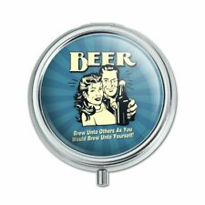 Beer Brew Unto Others As Would Yourself Pill Case Trinket Gift Box