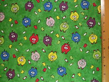 Pigs Apples Farm Print cotton fabric BY THE YARD BTY