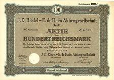 J. D. Riedel - E. de Haen AG 100 RM 1928 Berlin