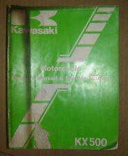 1985 Kawasaki KX500 KX 500 KX500-B1 Owner's Manual & Service Manual OEM