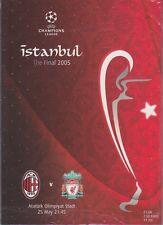 Liverpool V AC MILAN CHAMPIONS LEAGUE finale del programma 2005 originale non ristampa