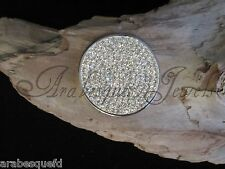GENUINE STERLINA MI MILANO 24mm CLEAR CRYSTAL COIN/MONEDA 4 NECKLACE/KEEPER AJMM