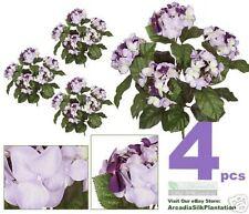 "FOUR 16"" Hydrangea Artificial Flowers Silk Plants PUMX"