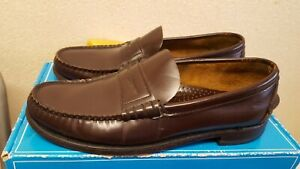 Sebago Handsewn In USA Men's Brown Leather Shoes Size UK 9