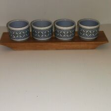 Vintage Hornsea Tapestry Egg Cups X 4 With Stand