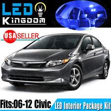 14X Blue LED Lights Interior Package Kit For 2006-2012 Honda Civic Coupe&Sedan