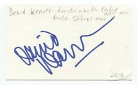 David Weaver Signed 3x5 Index Card Autographed Signature Film Director