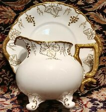 Royal Crown Derby Vine Gold, Sauce Boat four Footed & Underplate