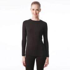 Maglie e camicie da donna casual neri seta