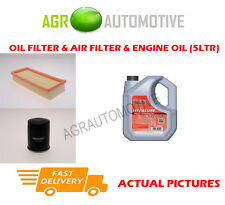 PETROL OIL AIR FILTER KIT + FS 5W40 OIL FOR FIAT PANDA 1.1 54 BHP 2003-12