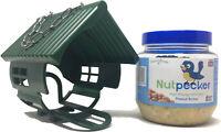 1 x NutPecker Bird Feeder and 1 x NutPecker jar of high energy wild bird peanut