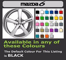 Mazda 6 calcomanías o adhesivos para Llantas de aleación x 6