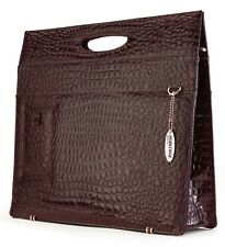 Mobile Edge Ladies Briefcase - Espresso Faux-Croc