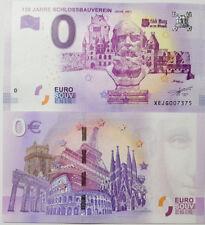0 Euro Schein Souvenirs 130 Jahre Schlossbauverein 2017-6 UNC