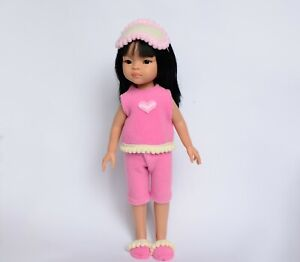 Outfit for Dolls 13 inch pajama set of clothes: Paola Reina, Les Cheries Corolle