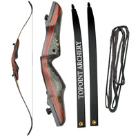 """62"""" 20--50lbs Archery Recurve Takedown Bow Target Hunting Traditional Plactice"""