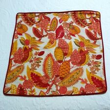 2008 Pottery Barn Floral Pillow Cover Orange Bohemian