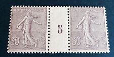 France N° 133 30 C Violet Neuf ** Millésime 5 TTB Qualité Choix Côté 1400€