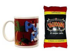 Lot of Puerto Rico Coffee Mug and 4oz Yaucono Groung Coffee FREE SHIP #4