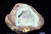 DUGWAY GEODE Soft Blue Crystal Mineral Druzy Quartz Juab County Utah See Video