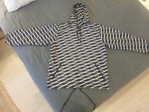 Balenciaga Hooded Button-up Rain Jacket