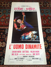 L'Uomo Dinamite locandina poster James Stewart George Kennedy Fire Old Car Fuoco