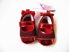 21a2d9abc897 BABY GIRL PRAM SHOES WITH GLITTER AND BOWS