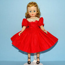 Madame Alexander Blond 9 In Cissette Doll in Tagged Red Cotton Drop Waist Dress
