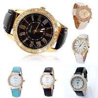 Luxury Women Watches Stainless Steel Analog Leather Quartz Fashion Wrist Watch