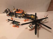Lego City Coast Guard Patrol Boat 60014 And Helicopter 60013