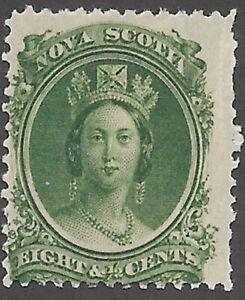 Nova Scotia Scott Number 11 Queen Victoria F HR Cat $5