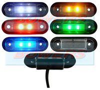 12V/24V FLUSH FIT WHITE/AMBER/RED/BLUE/GREEN LED MARKER LIGHTS/LAMPS KELSA BAR