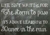 Motivation Life Storm Dance Rain Quote Art Giant Poster - A5 A4 A3 A2 A1 A0 Size