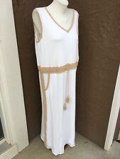 New $139 Chico's Crochet Detail Maxi Dress Alabaster White Sz 3 = XL 16 18 NWT