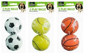 Dog Puppy Play Fetch Training Balls Strong Toys Sports Non Toxic Rubber Throwing