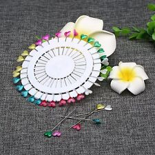30Pcs Round Head Dressmaking Wedding Faux Pearl Decorating Sewing Pin Craft Tool