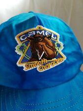Camel Blue Tye Dye Snap Back Cap Hat Cigarette Advertisement Promotional Vtg 90