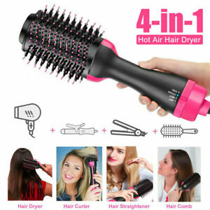 Hot 4 In 1 Hot Air Hair Dryer Brush Volumizer Negative Ion Comb Blow Dryer