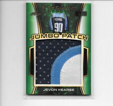 2018 LEAF IN THE GAME SPORTS JEVON KEARSE 3 COLOR JUMBO PATCH # 1/1 TITANS