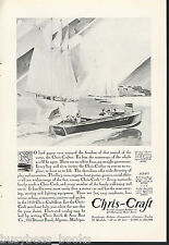 1930 CHRIS-CRAFT advertisement, 24-ft Runabout, Chris Craft wooden motorboat