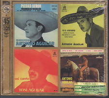 MEGA rare CD 45 RPM EPs ANTONIO AGUILAR Piedad Señor ASI CANTA Lupita VEINTEAÑOS
