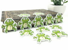 20X Frog Shape Wooden Button Fit Sewing decoration scrapbooking Kid's 30mm